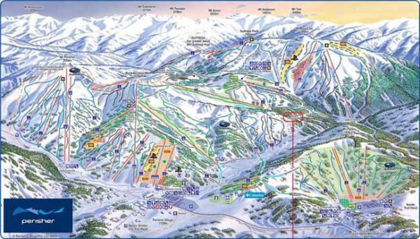 とにかくデカイ!シドニー近郊スキー場のマップ