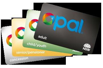 4種類のOpalカード