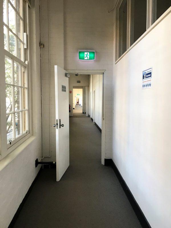 TAFE校舎の廊下