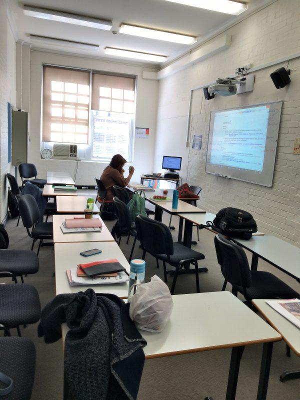 TAFE進学英語クラスの室内
