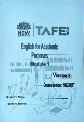 TAFEのEAPコーステキスト